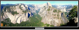 1 - Yosemite National Park (View from Glacier Point Lookout)