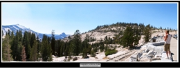 4 - Yosemite National Park (View from East to Half Dome)