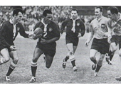 42 - Frank Drake  and Lionel Morgam playing for Queensland