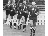 45 - John Sattler leads Queensland out to play in 1973