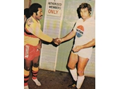 121 - 1981 South Queensland v PNG (Artie Beetson with PNG captain)