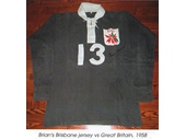 36 - Brian Davies Brisbane jersey v Great Britain in 1958