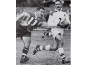 40 - Barry Muir going past a Toowoomba player
