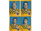 115 - Scanlens cards of Easts players