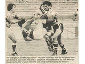 126 - Mal Meninga fends off a player