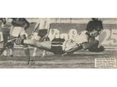 131 - Brad Sully dives over for a try in the 1981 Preliminary Final