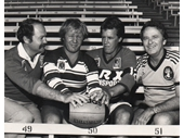 163 - BRL coaches and legends Ross Strudwick, Tommy Raudonikis, Greg Oliphant and Barry Muir
