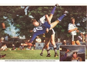 172 - Crunching tackle by Hubie Abbott at Neumann Oval