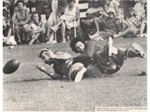 94 - Stve Stacey gets a ball away