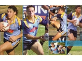 259 - Queensland greats Billy Slater, Cooper Cronk, Greg Inglis and Israel Folau when they played for Norths