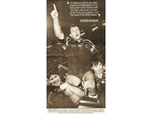 93 - 1995 State of Origin series - Trevor Gillmeister (The Axe) celebrates winning the series