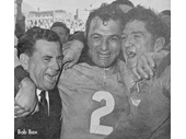 44 - Bob Bax and Norths players celebrate a 1960's Grand Final win