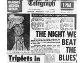 09 - Telegraph front page after Queensland's 1st Origin win