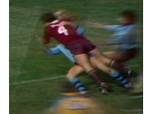 18 - 1982 State of Origin series - Gene Miles runs over the top of Greg Brentnall to score (Game 2)