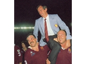 53 - 1987 State of Origin series - Queensland celebrates winning the decider