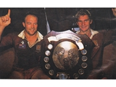 54 - 1987 State of Origin series - Wally Lewis and Allan Langer with the Origin Shield