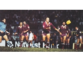 66 - Wally Lewis fires a ball out to the backs
