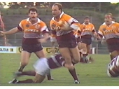 07 - Wally Lewis helps destroy Manly during the Broncos debut game