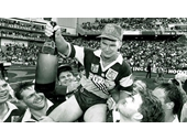 32 - Allan 'Alfie' Langer celebrates the 1992 Grand Final win