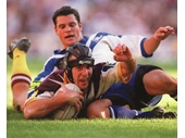 70 - Darren Smith scores a try during the 1998 NRL Grand Final