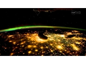090 - Great Lakes area at night