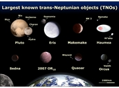 103 - Largest known objects that cross Neptune's orbit inc Pluto