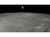 16 - Apollo Lunar Lander over surface of the Moon