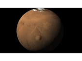 29 - Mars with polar ice cap and Olympus Mons 'Shield Volcano'
