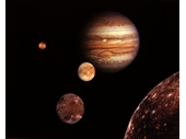46 - Montage of Jupiter and its four large moons