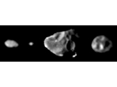57 - Montage of minor Jupiter moons - Metis, Adrastea, Amalthea and Thebe