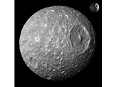 73 - Saturn's moon Mimas which looks a lot like a Death Star
