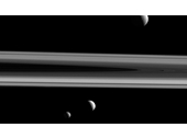 76 - Saturn's moons Tethys, Enceladus and Mimas