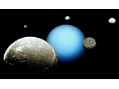 87 - Composite of Uranus and its 5 main moons