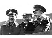 24 - Titov, Khruschev and Gagarin 1961