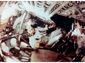 64 - Frank Borman on board Apollo 8