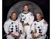 71 - Apollo 11's crew - Neil Armstrong, mike Collins and Buzz Aldrin