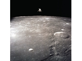 81 - Apollo 12's LEM over the Moon