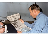 87 - Jim Lovell reads about his successful rescue