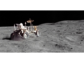 100 - Apollo 16's Lunar Rover in action