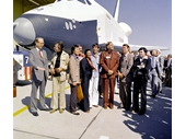 136 - Star Trek cast at unveiling of first Space Shuttle Enterprise that was only tested but never made it to space