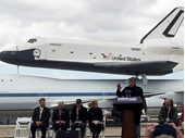 137 - Leonard Nimoy (Mr Spock) at the unveiling of the Space Shuttle Enterprise
