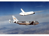 138 - Shuttle Enterprise on first test flight