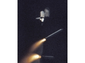 140 - STS-1 Shuttle's Solid Rocket Boosters break away from Columbia