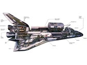 158 - Space Shuttle cutaway Illustration
