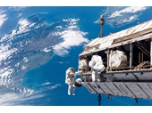 163 - Shuttle crew working on probe above New Zealand