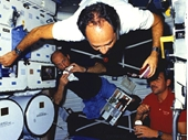 175 - STS-26 crew having lunch