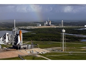 176 - Space Shuttles Atlantis and Endeavour on launch pads