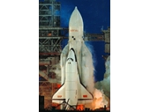 184 - The Russian Space Shuttle - the Buran about to launch into space for its only time (unmanned) in 1998