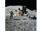 93 -  Apollo 15's Jim Irwin with the new Lunar Rover