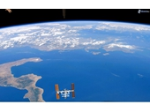033 - International Space Station over boot of Italy